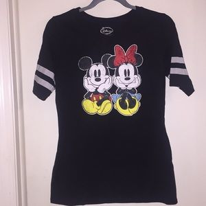 Tops - Black Mickey and Minnie shirt